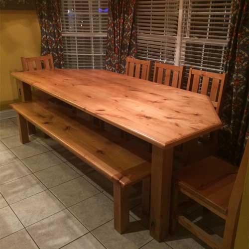 Breakfast Nook Farm Table, Custom