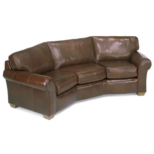 Leather rectangular cocktail ottoman mississippi made for Conversation sofa